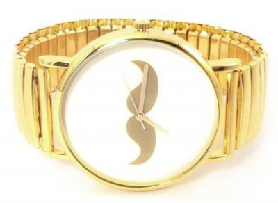 Złoty Zegarek MUSTACHE WĄSY Walentynki