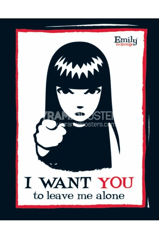 plakat EMILY THE STRANGE - I WANT YOU