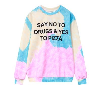 Harajuku cute gradient Printing T-shirt sweatshirt