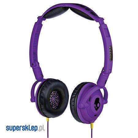 Fioletowe słuchawki