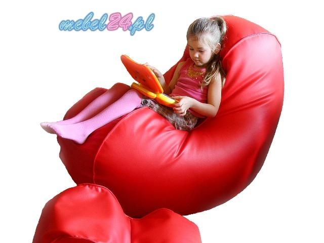 fotel relaksacyjny z granulatem FUNNY Serce Maxi