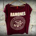 Burgundowa koszulka Ramones