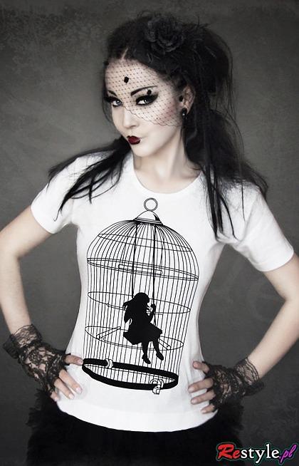 Koszulka z dziewczynką w klatce