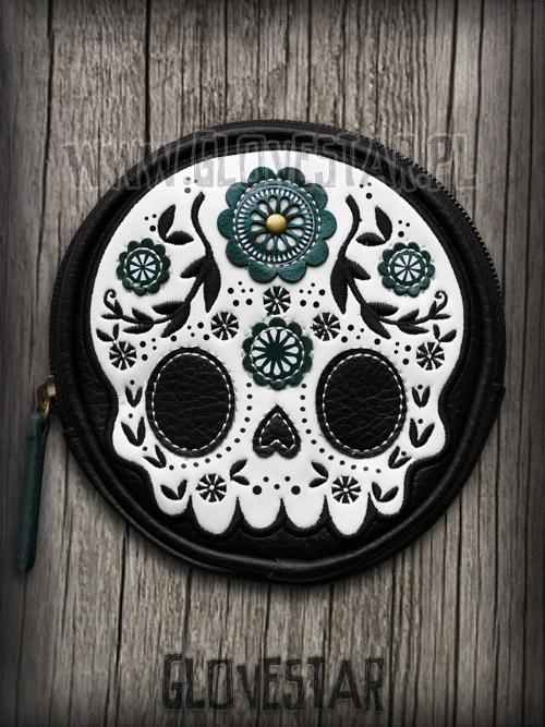 portmonetka LOUNGEFLY sugar skull biała