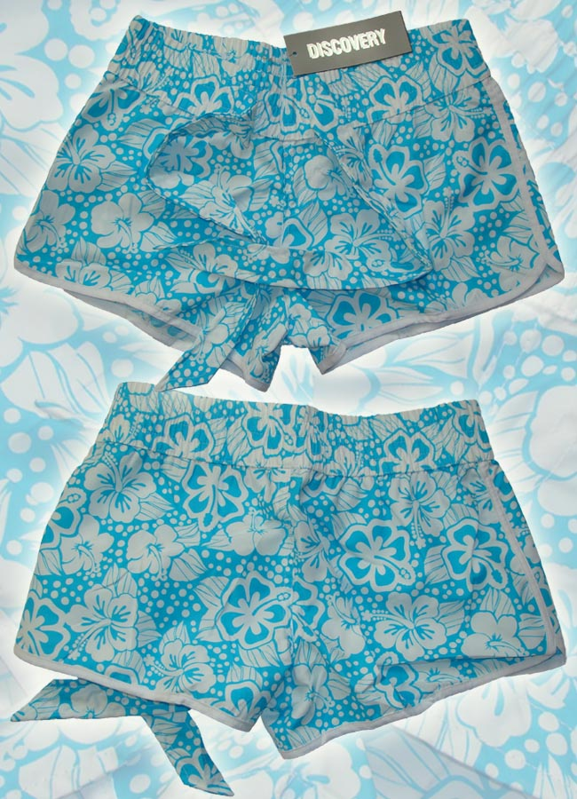 Szorty hawajki, niebieskie