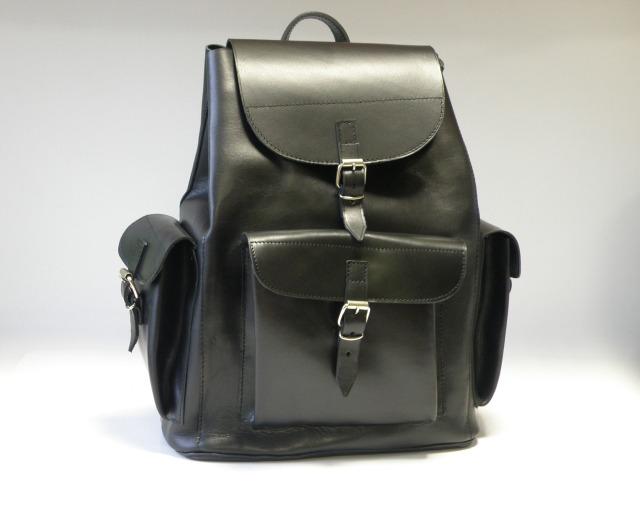Plecak juchtowy, plecak z naturalnej skóry - JUCHT 0086
