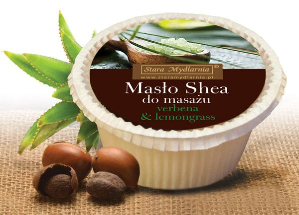 Masło shea do masażu - verbena & lemongrass 80 g