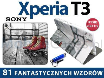 Sony Xperia T3 | Fantastic Flex Book ETUI + RYSIK