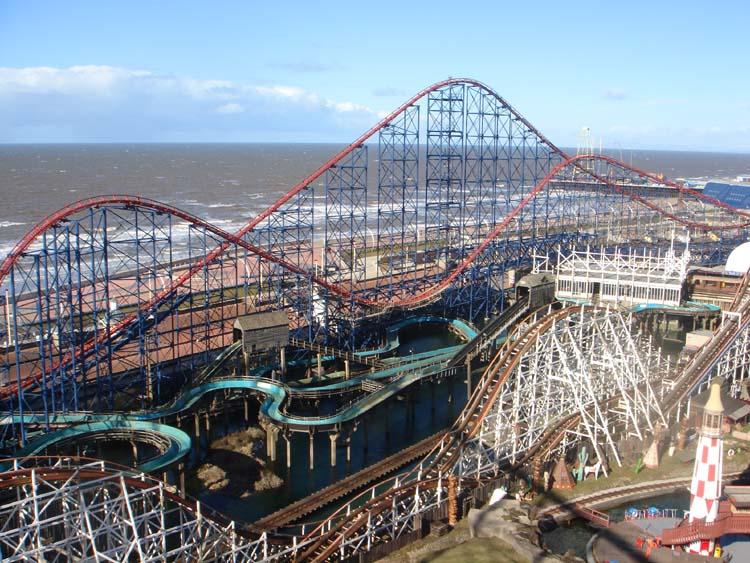 Dzień w Pleasure Beach Blackpool