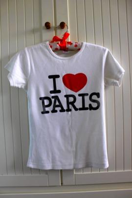 Koszulka z Napisem I love Paris