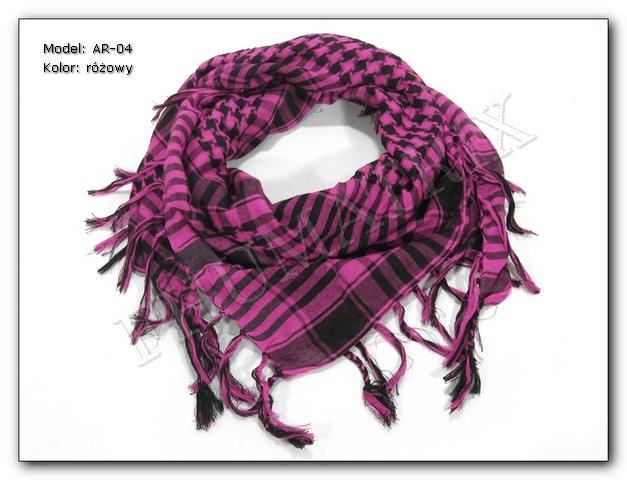 Arafatka różowo-czarna