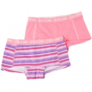 Zaccini Stripes 2-pack lady boxers pink