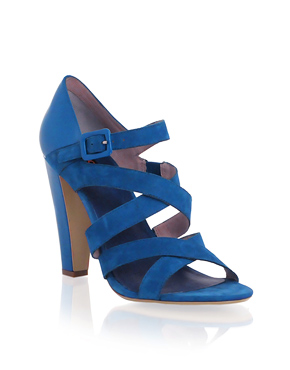 Leather Multi Strapped Heeled Shoe
