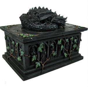 Smoczy sarkofag - pudełko smok fantasy gothic