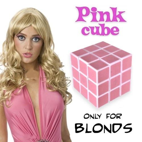 Różowa kostka Rubika dla blodynek