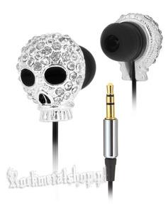słuchawki ROCK DADDY - SKULL SILVER