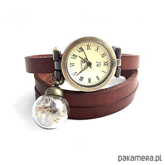 pakamera.pl   Skórzany zegarek z nasionami dmuchawca EGGinEGG
