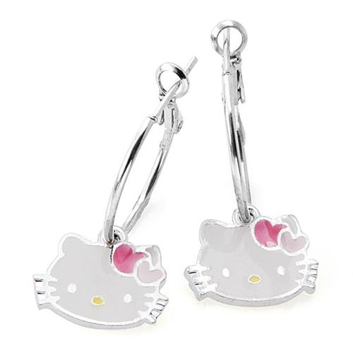 kolczyki z Hello Kitty śliczne
