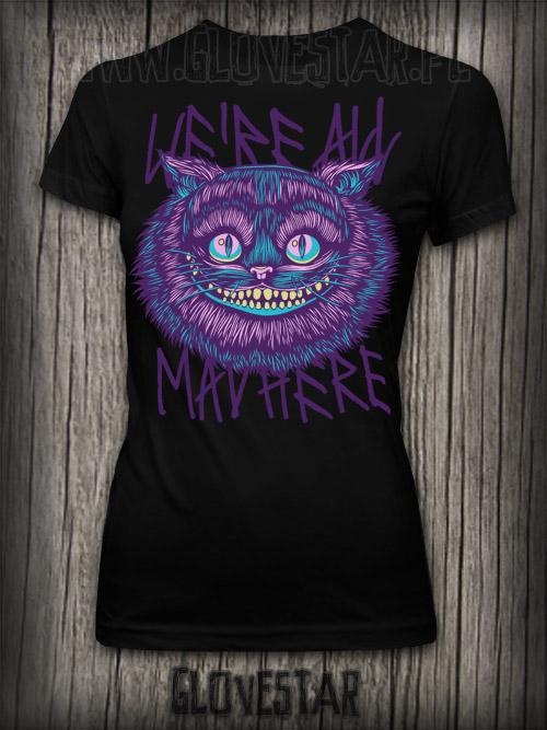 koszulka CHESHIRE CAT grrl CZARNA