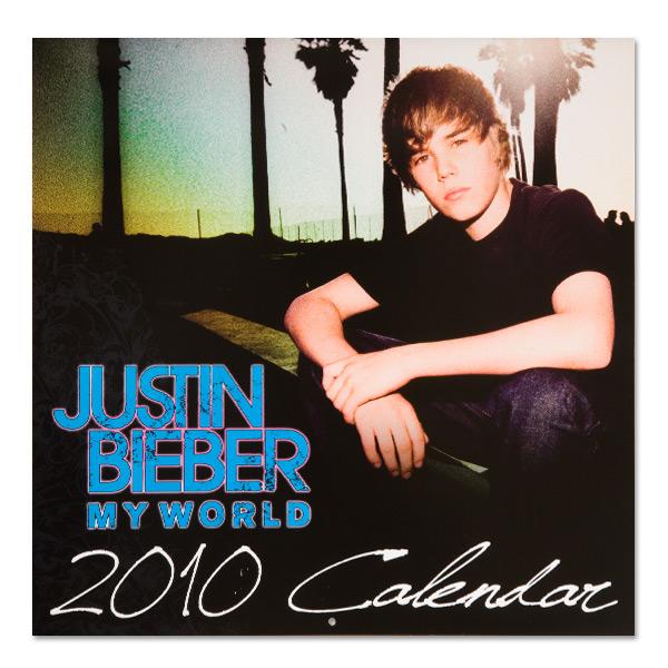 Kalendrz ze zdjęciami Justina Biebera( z jego internetowego sklepu)