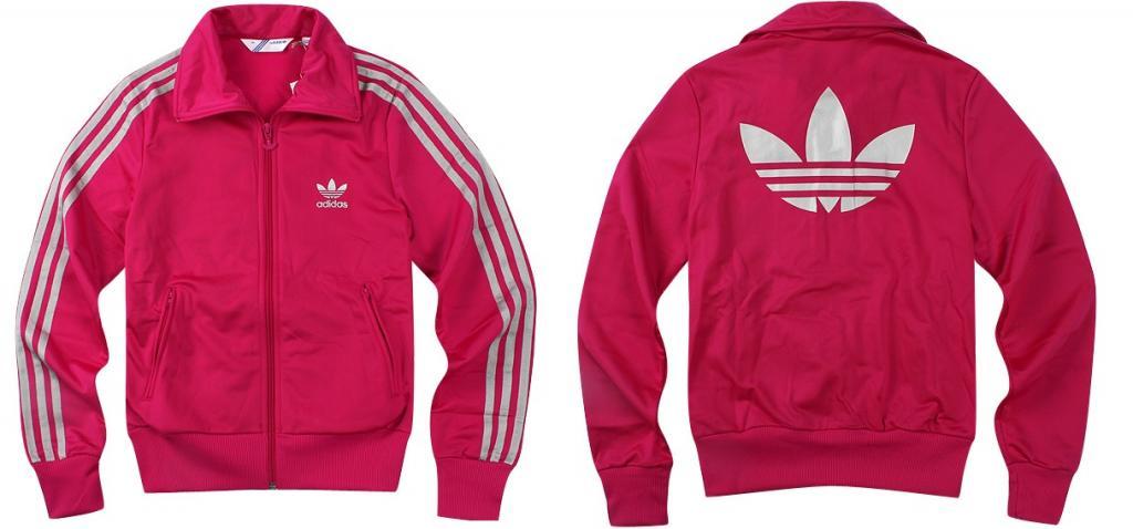 bluza adidas firebird różowa