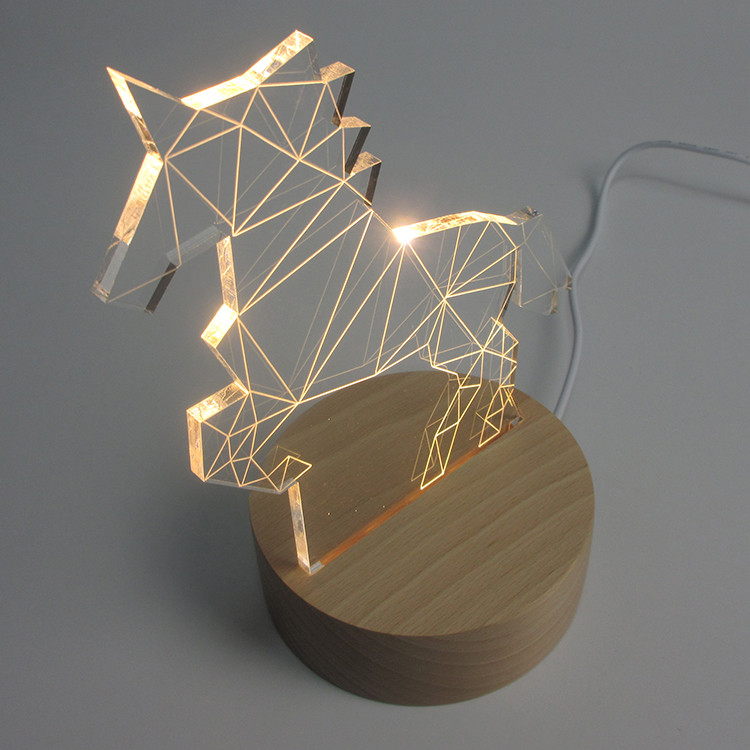Unicorn Lamp 3D LED