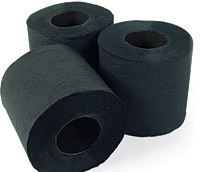 Czarny papier toaletowy
