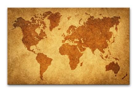 Ścienna, wielka mapa świata