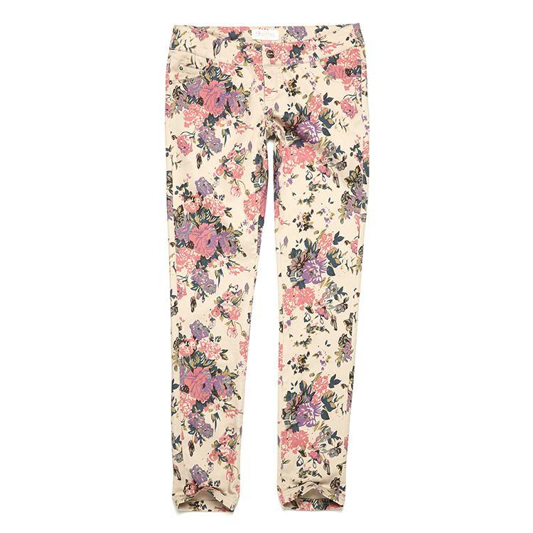 spodnie w kwiatowy wzór