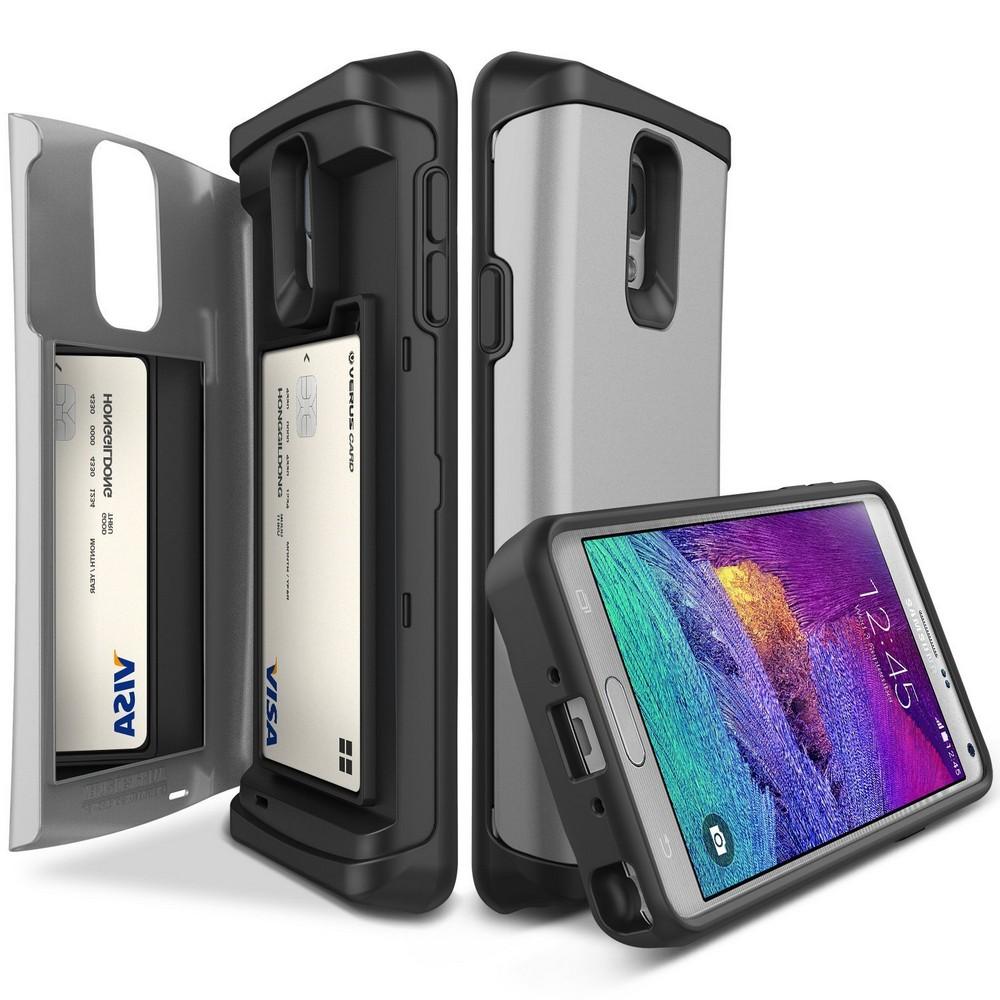 VRS DESIGN Damda Veil Etui Samsung Galaxy Note 4 srebrne