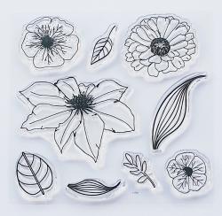 Stemple akrylowe Flowers