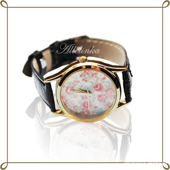 zegarek z kwiatami