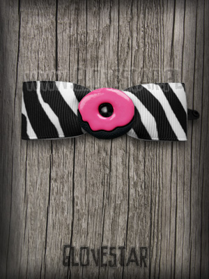 Kokardka Donut (zebra) GLOVESTAR