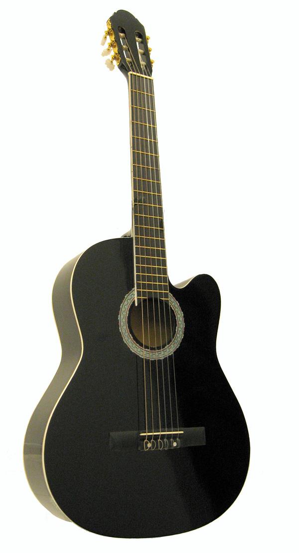 czrna gitara klasyczna