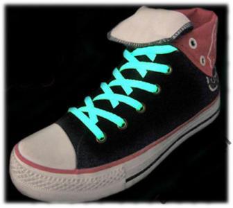 Świecące Sznurówki - Zielone