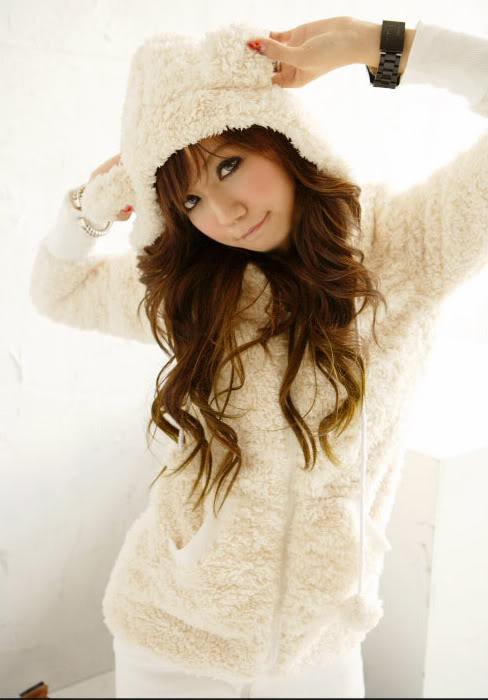 biala bluza mis japan style