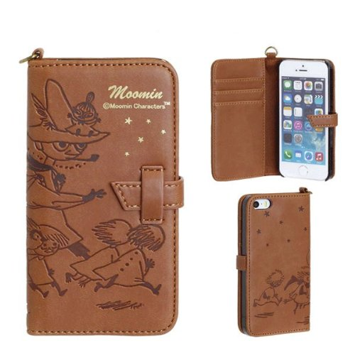 Moomin Characters Book Style iPhone 5s/5 Case (Snufkin Star/Brown)
