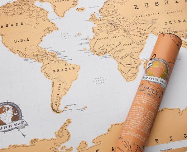 Mapa zdrapka - Świat