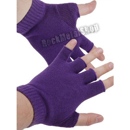 rękawiczki FIOLETOWE bez palców