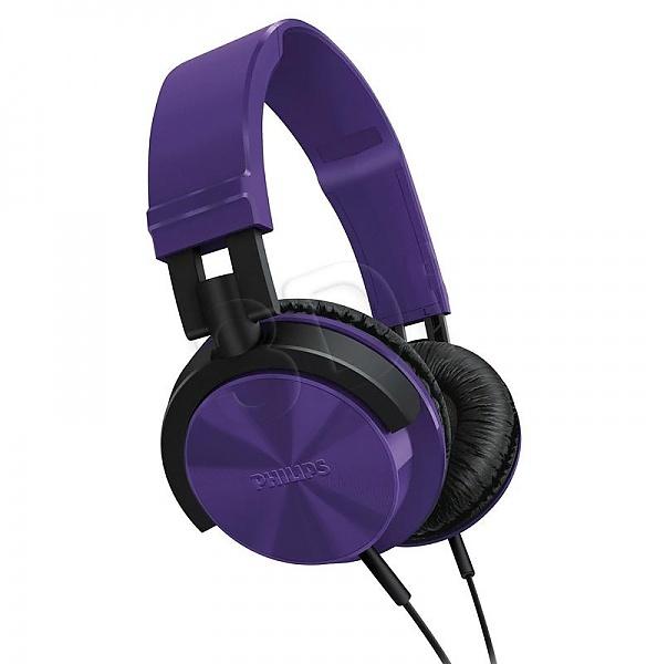 słuchawki PHILIPS fiolet