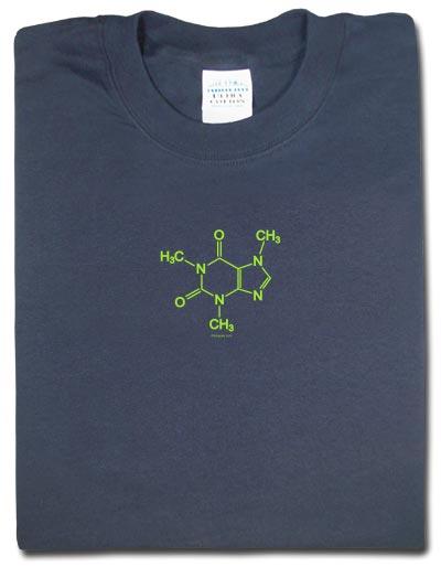 Koszulka: Caffeine Molecule - cząsteczka kofeiny