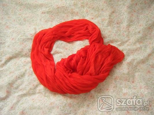 chusta/szalik czerwony ;)