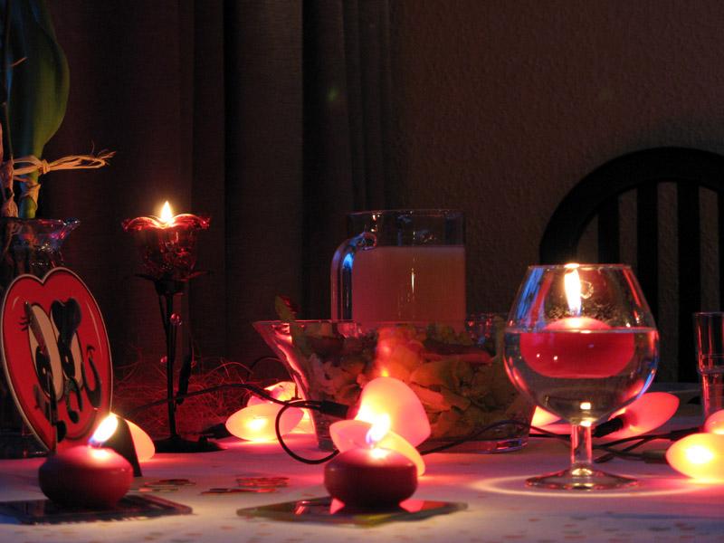 Kolacja przy świecach! ^^