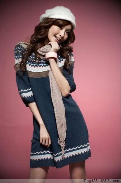 Japan Style sweterek-sukienka