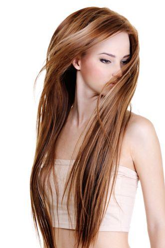 Długie i proste włosy