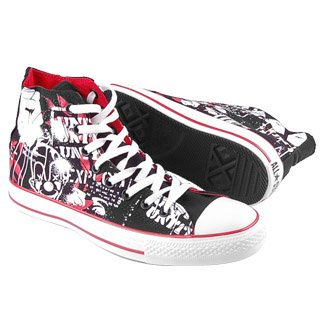 Converse CHUCK TAYLOR ALL STAR PRINT Hi Black/White/Red