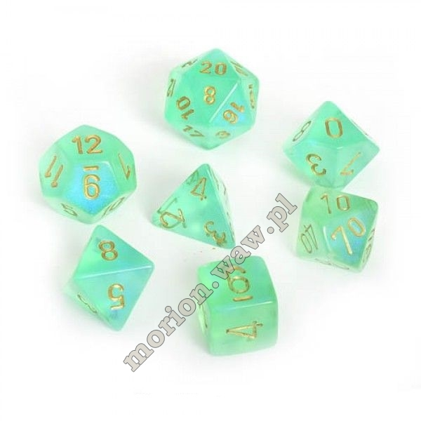 kości chessex borealis light green/gold