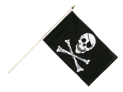 Flaga na patyku Pirat Czaszka i Kośc Flagi Piracka