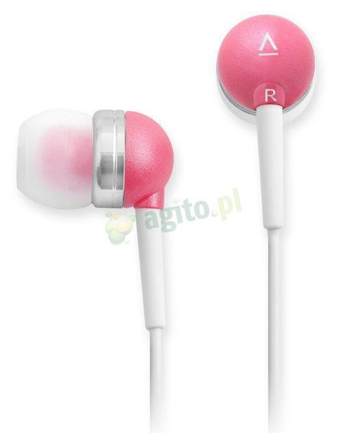 słuchawki różowe .