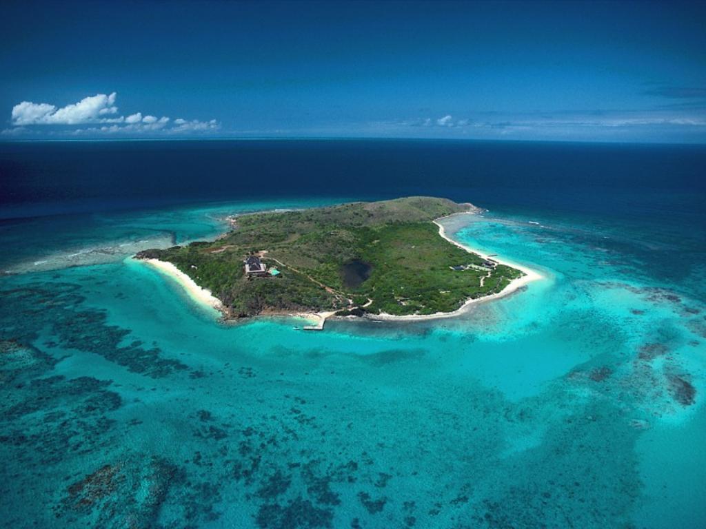 wyspa w kształcie litery